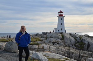 me with lighthouse 300x198 Halifax, Nova Scotia, Cannons and Fudge