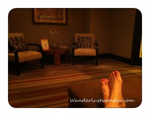 toes in waiting room 300x232 Sublime Relaxation at the Aji Spa at Sheraton Wild Horse Pass Resort