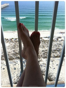 toes on balcony 014 225x300 The Most Perfect Condo in Navarre Beach   Summerwind Resort