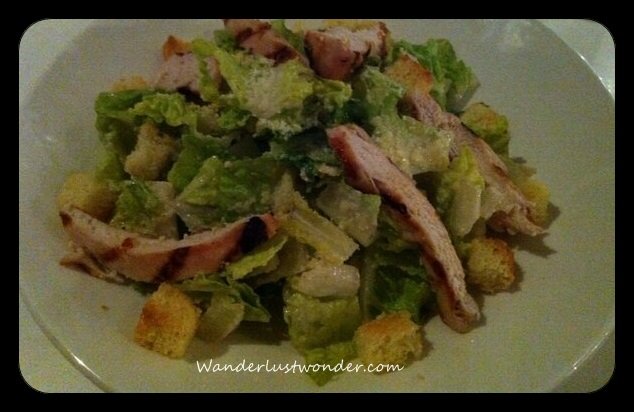 Delicious, fresh Caesar salad.