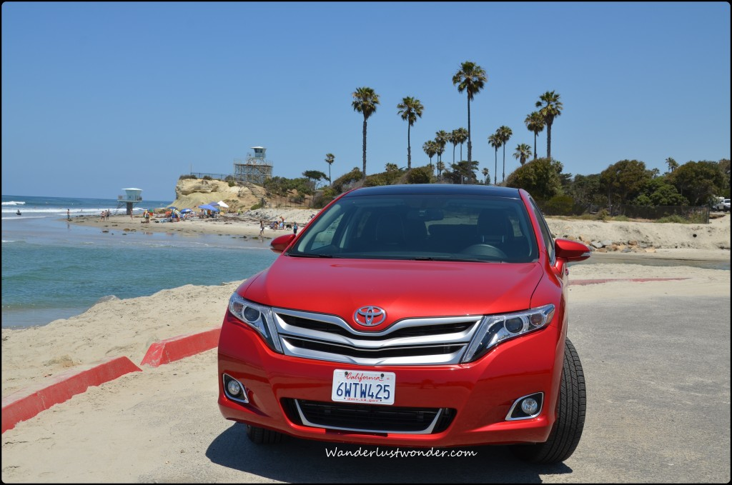 Front of the Venza at the beach.