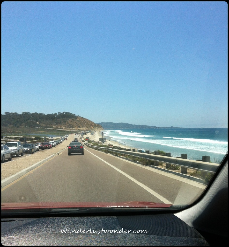 Driving the coast of California in our Venza.