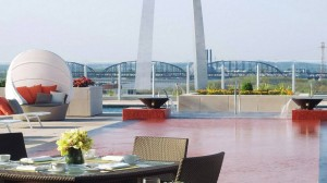 View of St. Louis from Cielo. Photo courtesy of the Four Seasons Hotel.