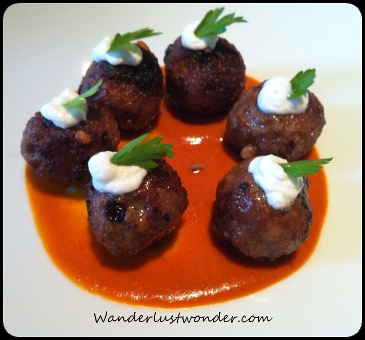Lamb meatballs are delicious - who knew?