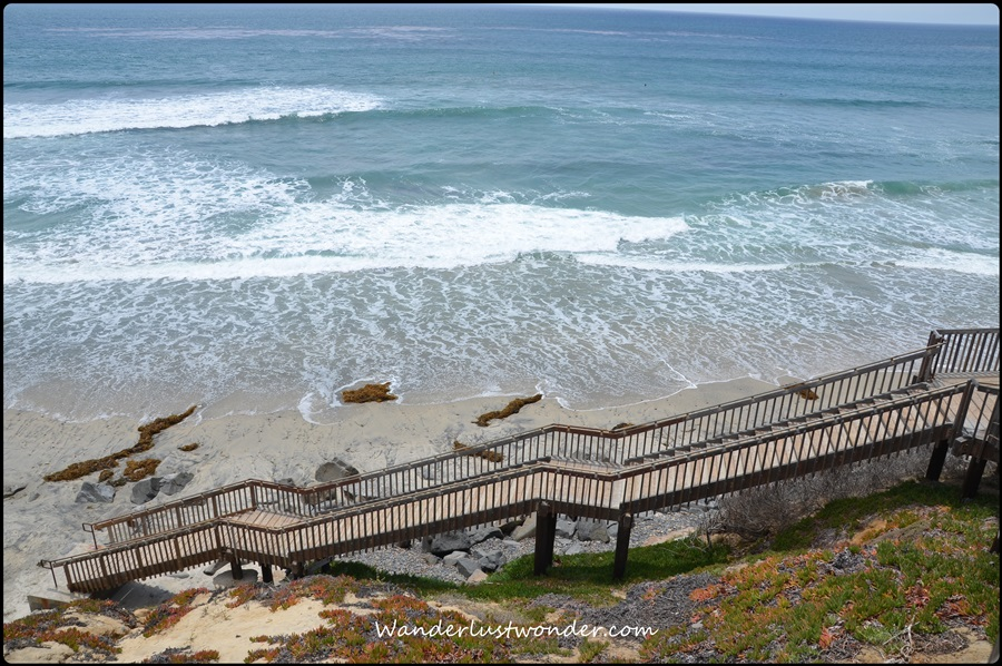 Steps to beach in Carlsbad