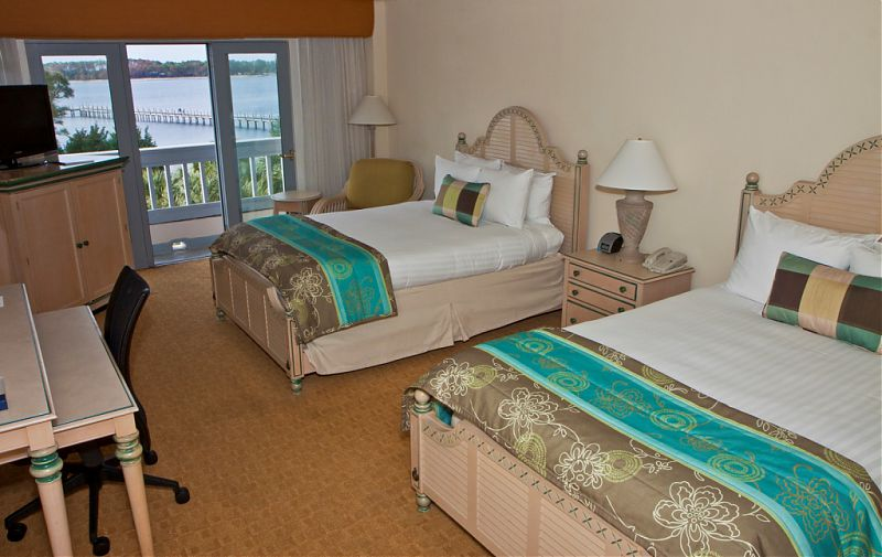 One of the bedrooms in the villa. Photo courtesy of the Bay Point Wyndham Resort.