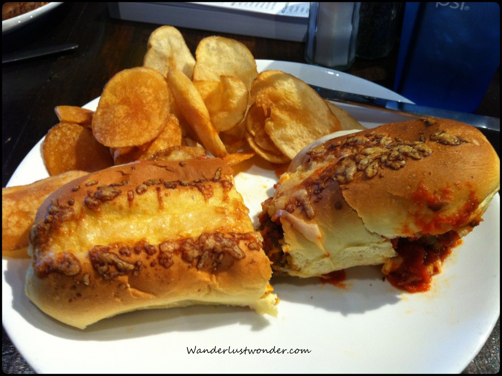 Meatball sub from the Precinct.
