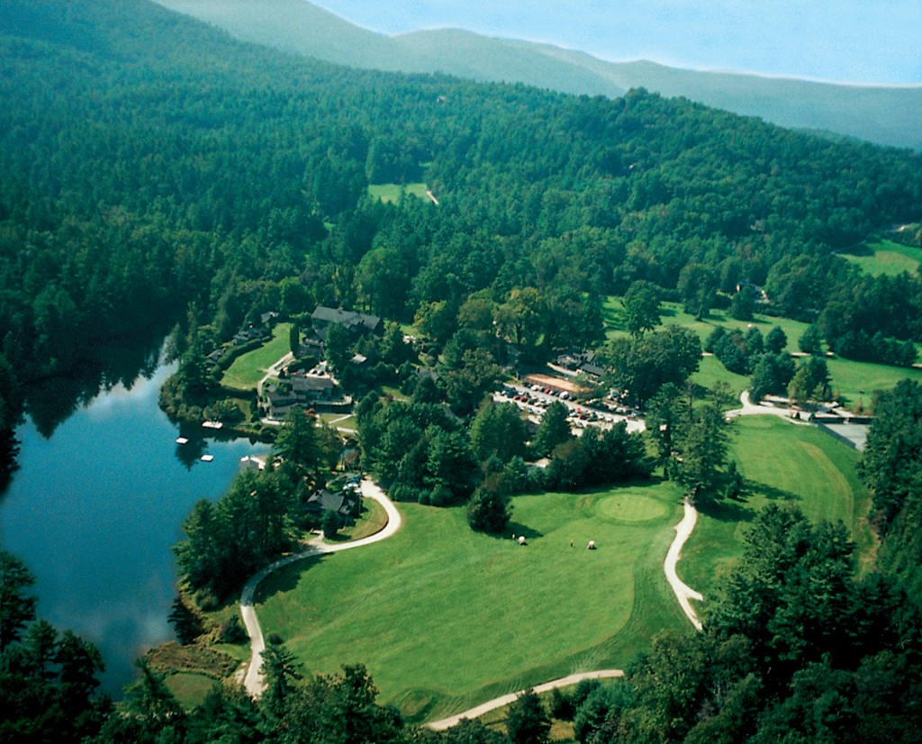 Aerial view of the resort. Photo courtesy of the High Hampton Inn.