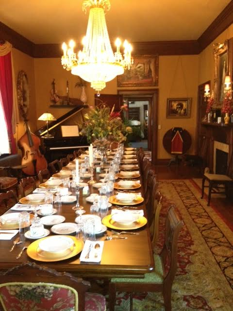 Lovely dining room. Photo courtesy of the Reynolds Mansion.