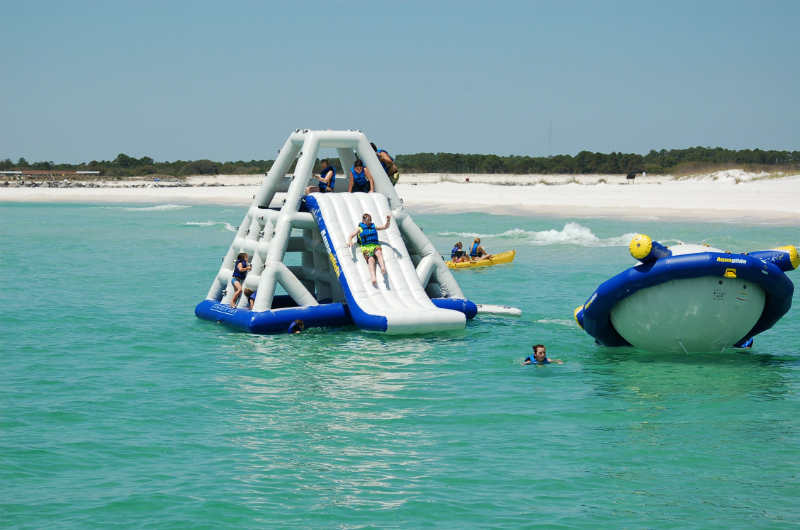 Inflatable slide. Photo courtesy of Paradise Adventures.