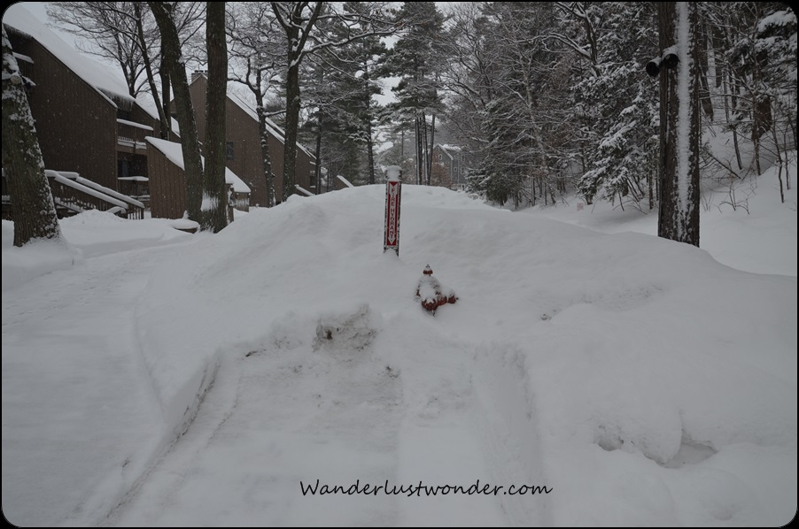 Snow has to be cleared for the fire hydrant!