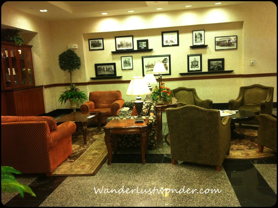 Fabulous, comfortable furniture in the lobby.