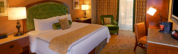 King room. Photo courtesy of the River City Casino and Hotel.