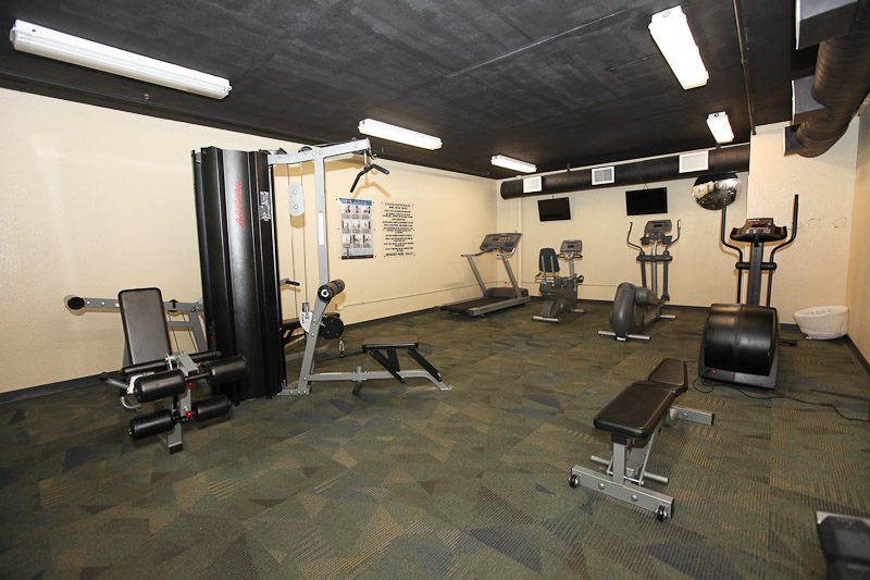 Nice exercise room! Photo courtesy of Sterling Resorts.