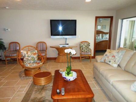 Plenty of seating  - and flat screen televisions in every room! Photo courtesy of the complex.