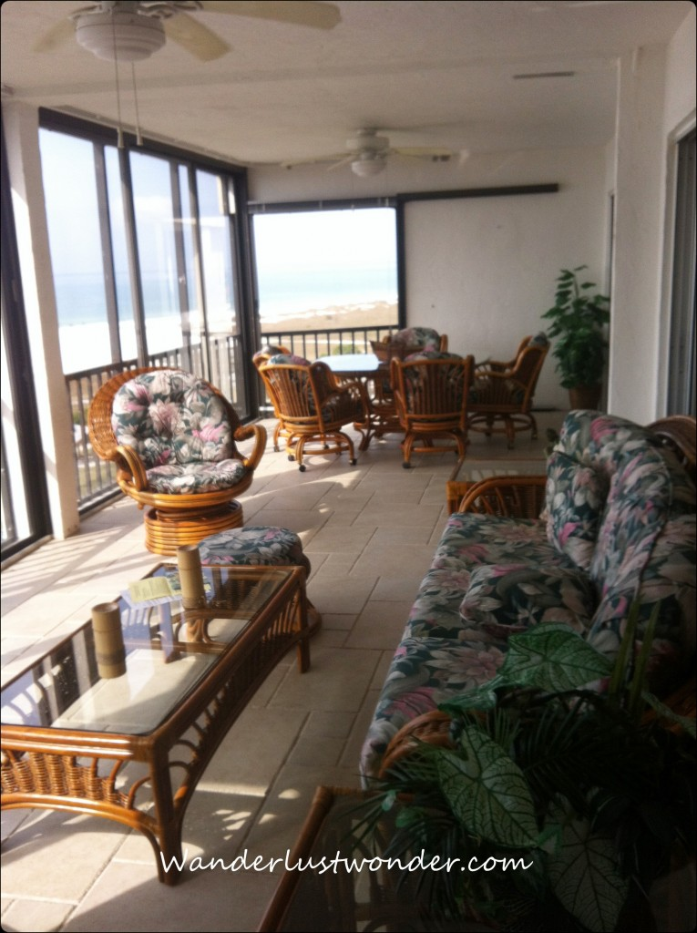 Porch 765x1024 Never Gonna Let You Go   7a Crescent Royale Condos, Siesta Key