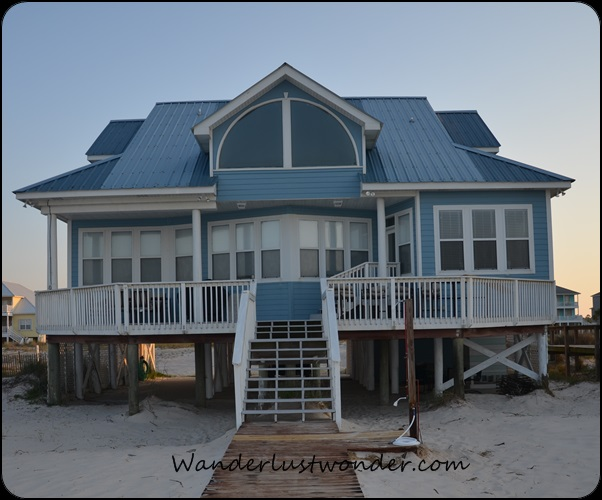 View of the amazing house from the beach.