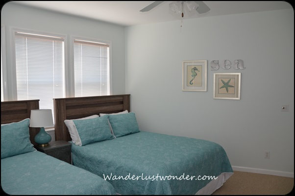 Love the beachy colors in this other downstairs bedroom.