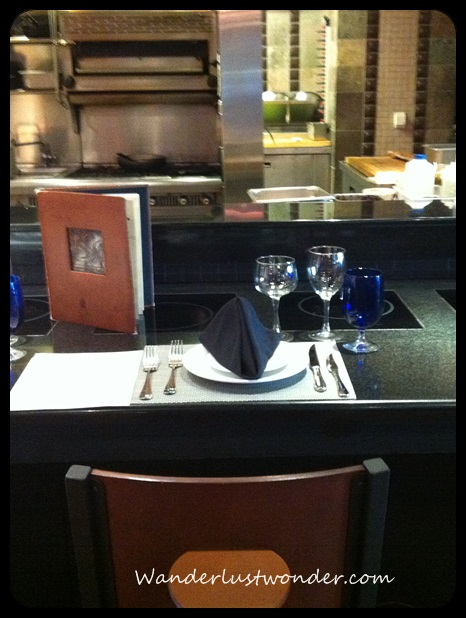 Our seat at the Chef's table.