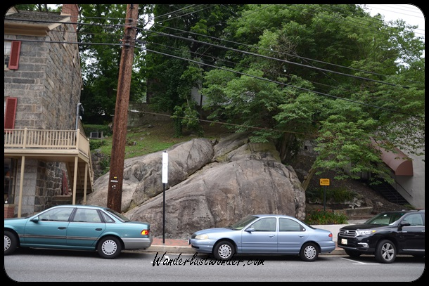 Part of the mountain peeks through in Ellicott City.