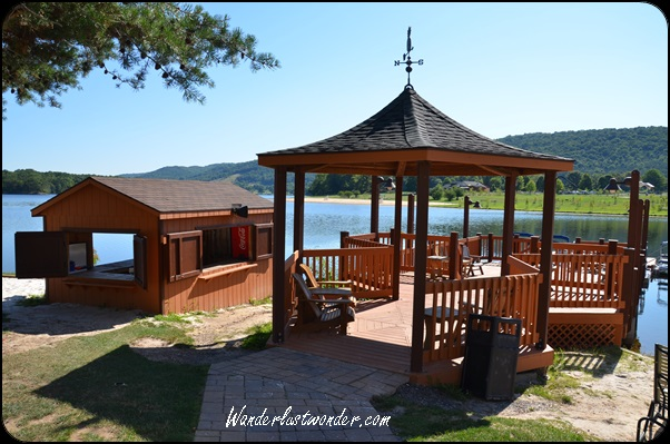 Gazebo overlooking the lake.