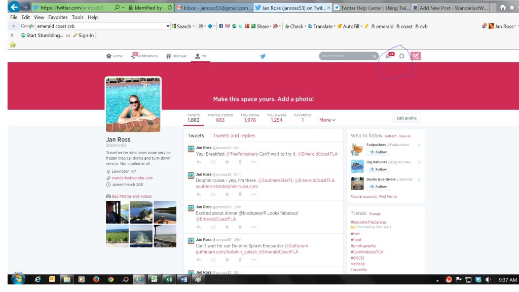My profile gear 1024x576 How to Create a List in Twitter
