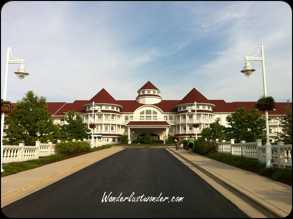 The front of the Blue Harbor Resort.
