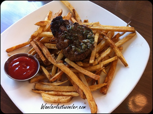 American cooking at its best - steak and fries!