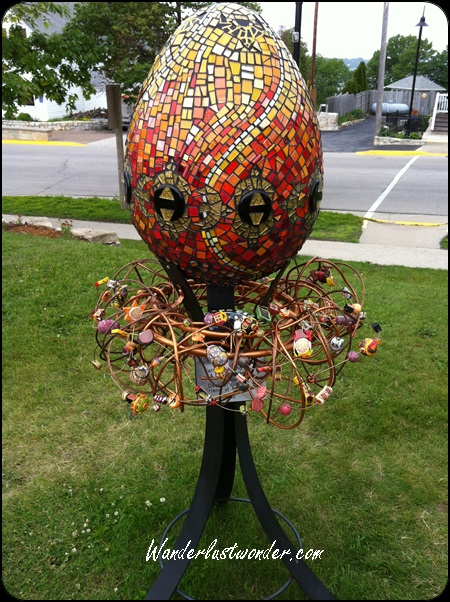 This mosaic, beaded egg was amazing.