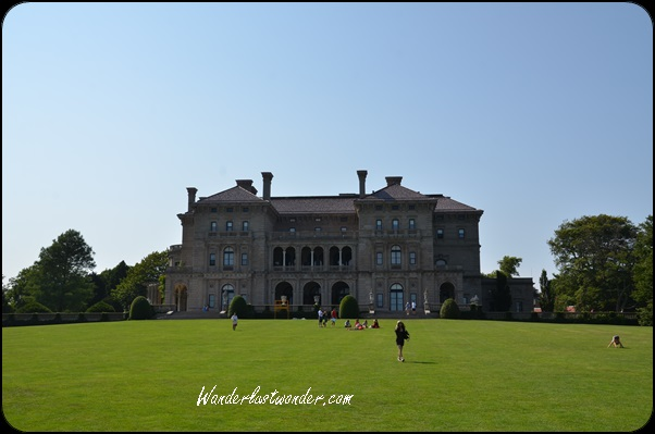 View of the mansion from the expansive back yard.