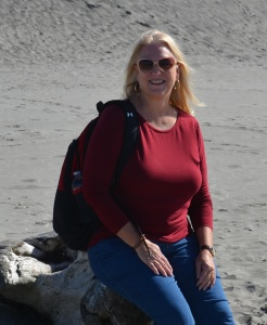 Jan Ross visiting the coast of Oregon.
