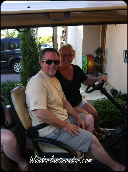 My SIL was the one most comfortable driving a golf cart so we put her in charge.