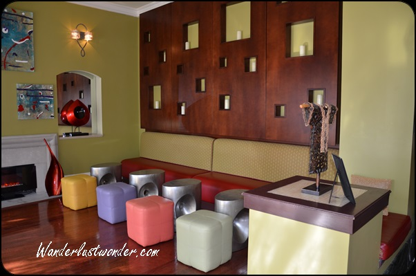 More lobby seating and modern décor.