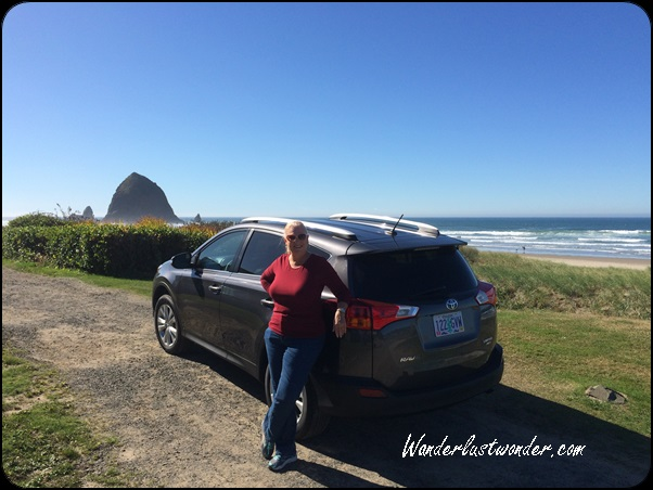 Relaxing in Cannon Beach, Oregon.