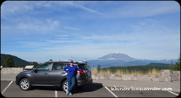 Me, the Rav4, and Mt. St. Helens.