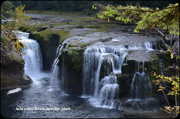 The Lower Lewis River waterfall