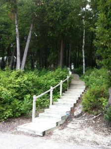 Stairs at Little Sister Resort