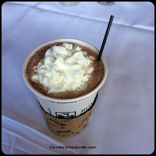 Delicious hot chocolate.