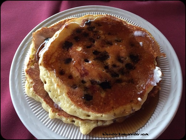 Great blueberry pancakes!