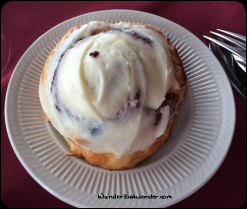 Cinnamon Roll - could have cheerfully eaten a dozen of these.