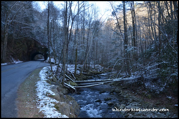Mountain Stream and Tunnel on Cades Cove Drive