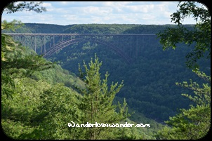 View of the New River Gorge Bridge.