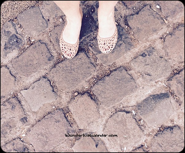Perfect for cobblestones in Perouges, France.