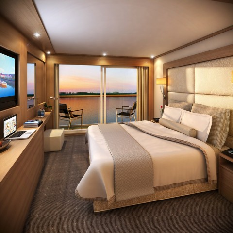 Verandah stateroom. Photo courtesy of Viking River Cruises.