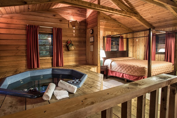 Cabin with Jacuzzi Courtesy of the Resort