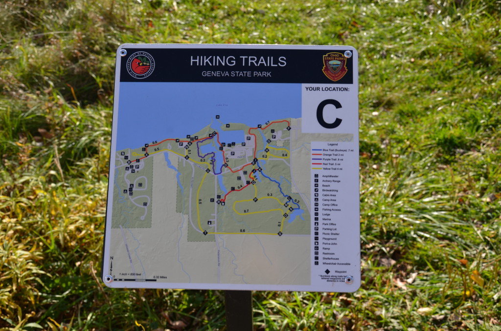 Signs for one of the trails.