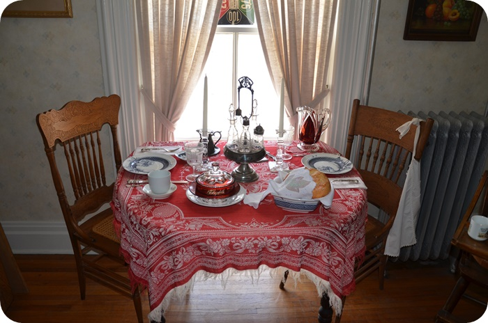 Table set in dining room