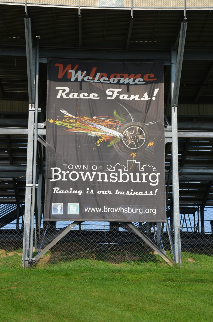Sign for Brownsburg