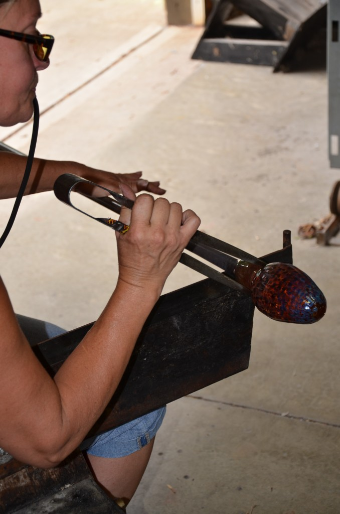 Blowing Glass Into Shape