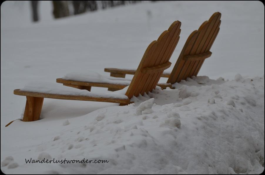 Beach Chairs In Snow At The Grand Geneva Resort